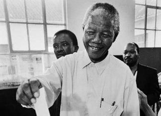 Nelson Mandela en boksen
