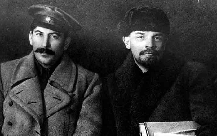 Stalin en Lenin