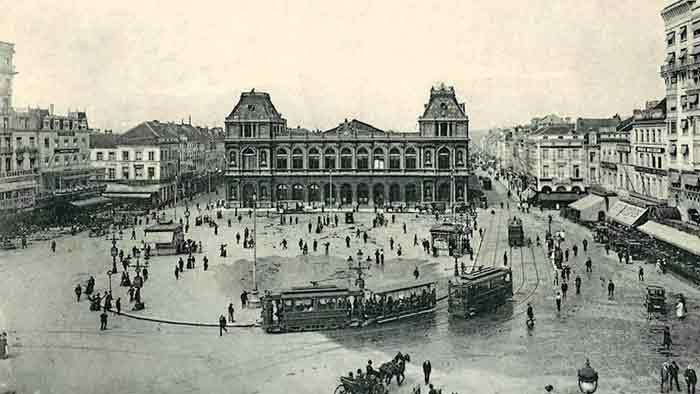 Brussel 1900 Gare du Nord