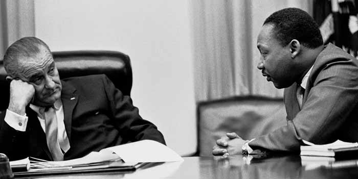 Martin Luther King, Jr. en Lyndon B. Johnson