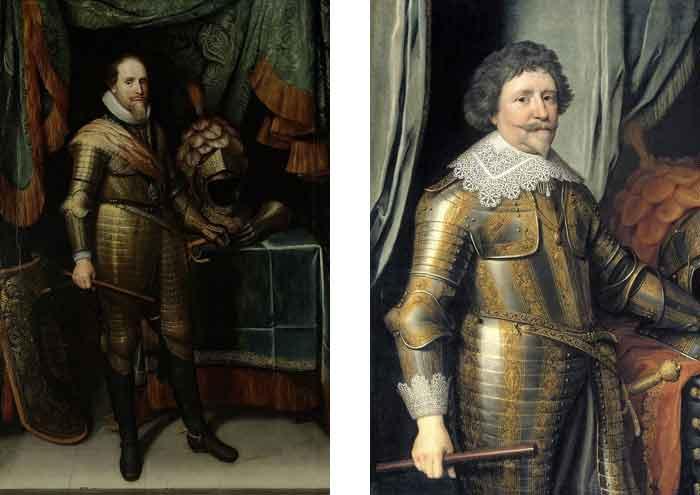 Maurits (1567-1625) en Frederik Hendrik (1584-1647)