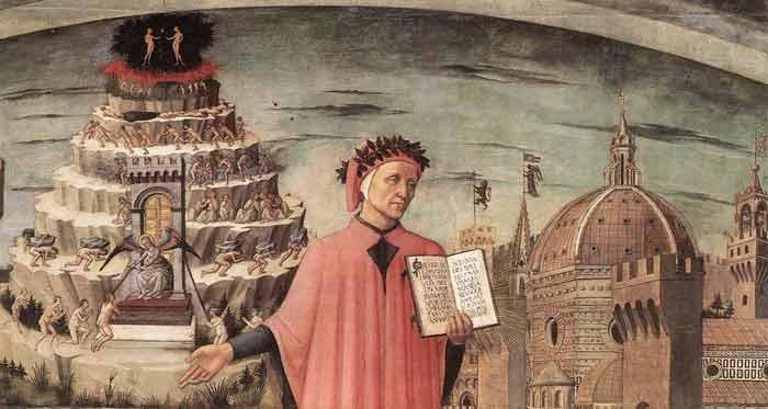 Dante voor de louteringsberg