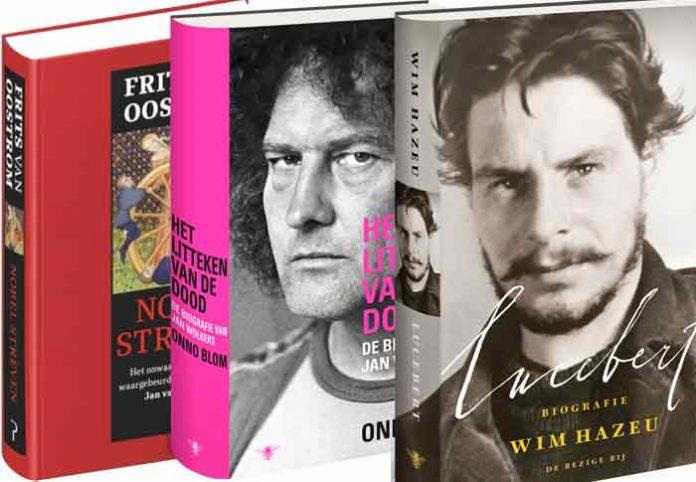 biografieën op longlist bookspotprijs 2018