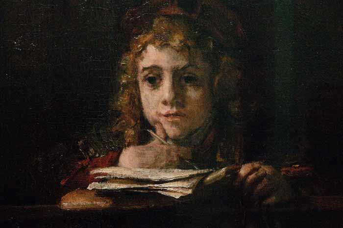 Titus aan de lezenaar, aangekocht door Hannema in 1939