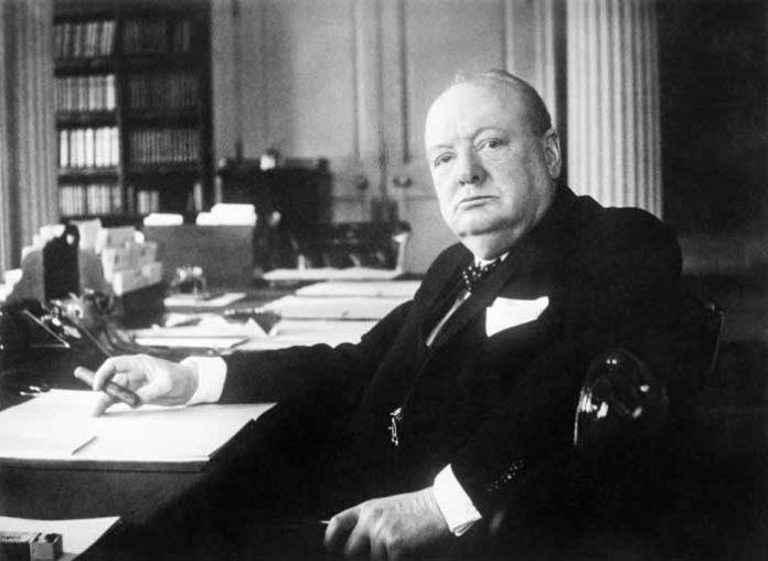 Winston Churchill in een biografie van Andrew Roberts