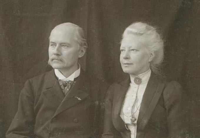 Jacques van Marken en Agneta van Marken-Matthes in 1890